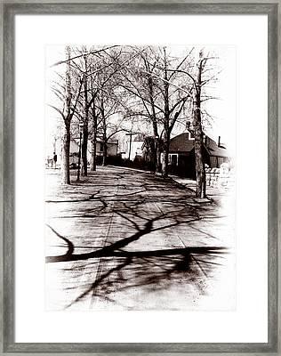 1900 Street Framed Print by Marcin and Dawid Witukiewicz