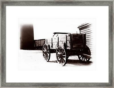 1900 Wagon Framed Print by Marcin and Dawid Witukiewicz