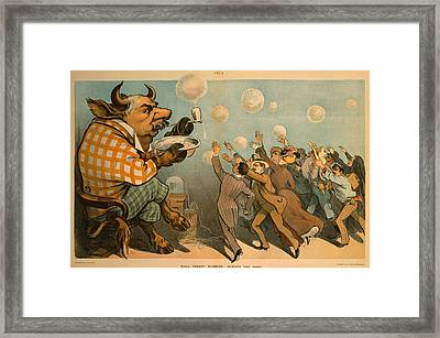 1901 Caricature Of John Pierpont Morgan Framed Print by Everett