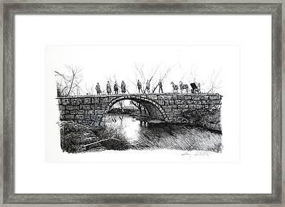 1902 Bridge Postcard Framed Print by Gary Gackstatter