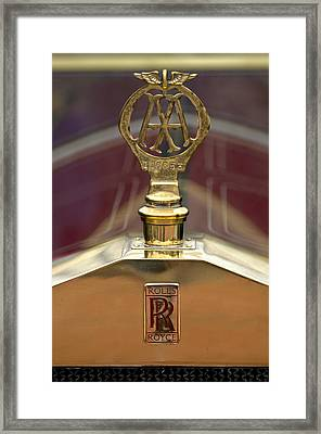 1910 Rolls-royce Silver Ghost Balloon Hood Ornament Framed Print by Jill Reger
