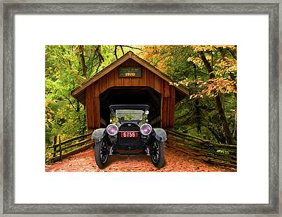 Framed Print featuring the photograph 1914 Reo Emerges by Bill Dutting