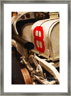 1915 Stutz White Squadron Racer - Painterly - 7d17497 Framed Print by Wingsdomain Art and Photography