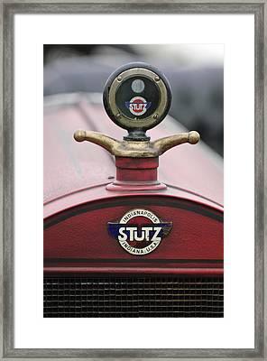1916 Stutz Series B Bearcat Hood Ornament Framed Print by Jill Reger