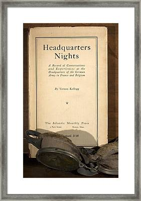 1917 Headquarters Nights Vernon Kellogg Framed Print by Paul D Stewart