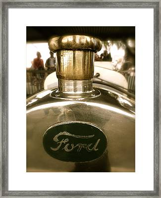 1918 Ford Model T Indianapolis Hood Badge Framed Print by John Colley