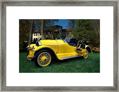 1920 Kissell Silver Special Speedster Gold Bug Framed Print by Tim McCullough