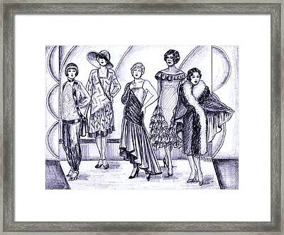 1920s British Fashions Framed Print by Mel Thompson