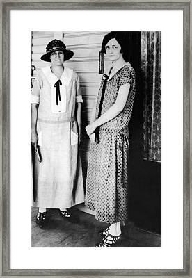 1920s Dresses. Miriam A. Ferguson Framed Print by Everett