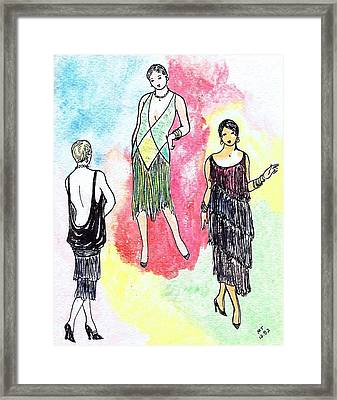1920s Gals 2 Framed Print by Mel Thompson