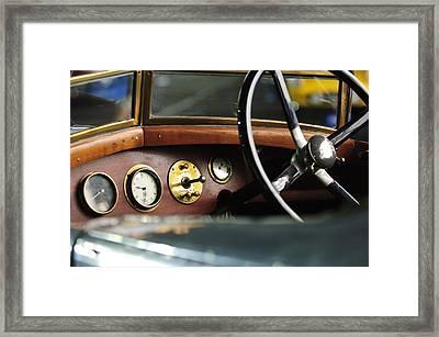 1921 Bentley  Instruments And Steering Wheel Framed Print by Jill Reger