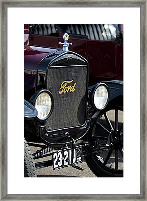 1925 Ford Model T Coupe Grille Framed Print by Jill Reger