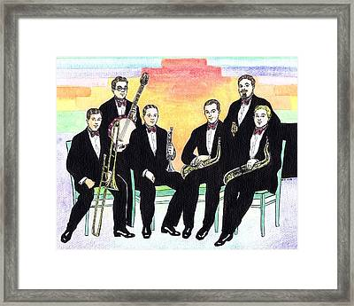 1927 New Yorkers Jazz Band Framed Print