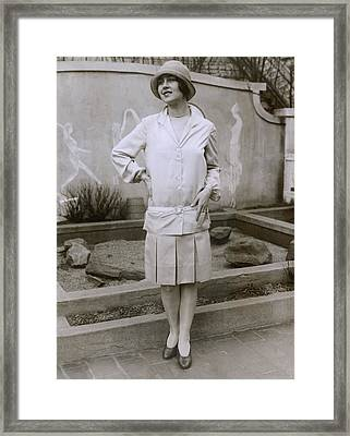 1927 Suit With A Mid-knee Pleated Skirt Framed Print