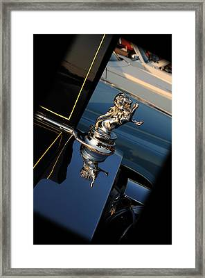 1928 Franklin Sedan Hood Ornament Framed Print by Paul Ward