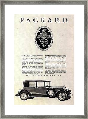 1928 Packard Framed Print by Georgia Fowler