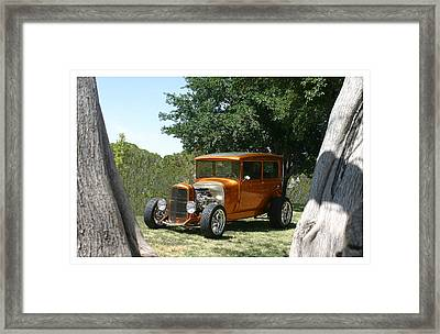 1929 Ford Butter Scorch Orange Framed Print by Jack Pumphrey