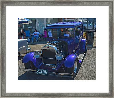 Framed Print featuring the photograph 1929 Ford Model A by Tikvah's Hope