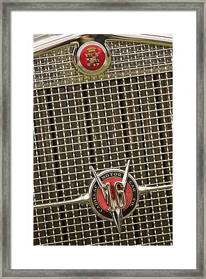1930 Cadillac 452 Fleetwood Grille Emblem Framed Print by Jill Reger