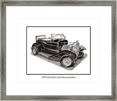 1930 Ford Model A Roadster Framed Print by Jack Pumphrey