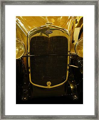 1930 Ford Model A Rumble Seat Roadster Grill Framed Print by Ken Smith