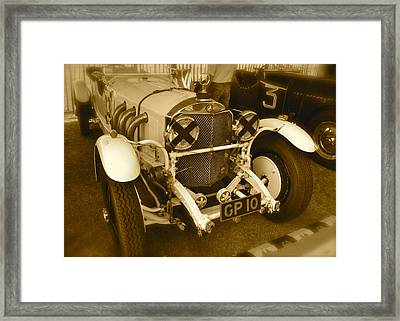 Framed Print featuring the photograph 1930 Mercedes Benz 710 Ss Rennsport by John Colley