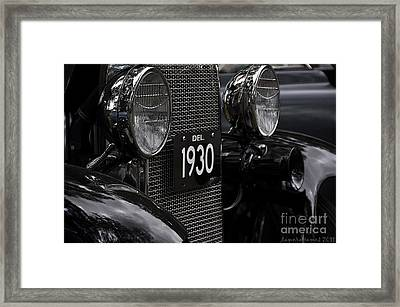 Framed Print featuring the photograph 1930 by Tamera James