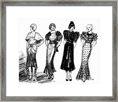1930s Black And White Framed Print by Mel Thompson