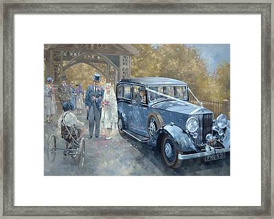 1930s Country Wedding  Framed Print