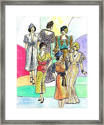 1930s Fashions Framed Print by Mel Thompson