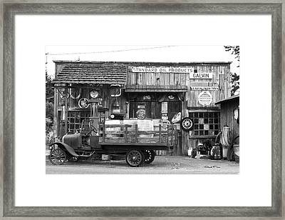 1930's Gas Station Framed Print by Ansel Price