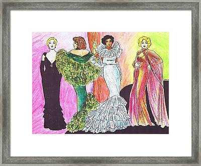 1930s Gowns Framed Print by Mel Thompson