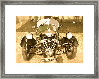 Framed Print featuring the photograph 1930s Three Wheel Morgan by John Colley