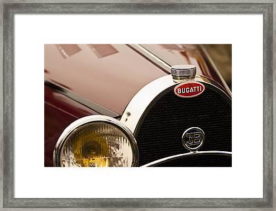 1931 Bugatti Type 55 Roadster Grille Emblem Framed Print by Jill Reger