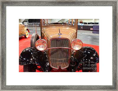1932 Ford Model B-150 Station Wagon . 7d9206 Framed Print by Wingsdomain Art and Photography