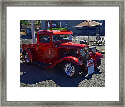 Framed Print featuring the photograph 1932 Ford Pick Up by Tikvah's Hope