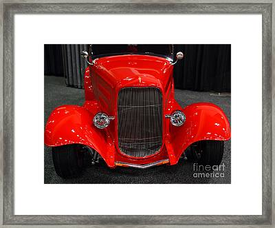 1932 Ford Roadster . Red . 7d9286 Framed Print by Wingsdomain Art and Photography