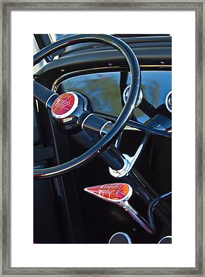1932 Hot Rod Lincoln V12 Steering Wheel Emblem Framed Print by Jill Reger