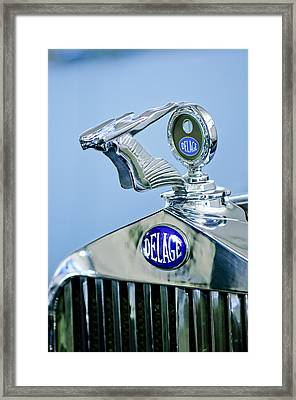 1933 Delage D8s Coupe Hood Ornament Framed Print by Jill Reger