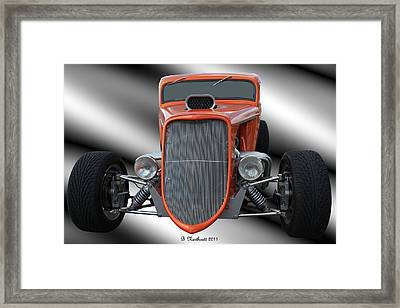 1933 Ford Roadster - Hotrod Version Of Scream Framed Print