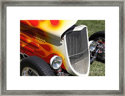 1933 Ford Roadster With Flames . 5d16237 Framed Print by Wingsdomain Art and Photography