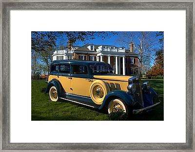 1933 Hupmobile Model K321 Sedan Framed Print by Tim McCullough