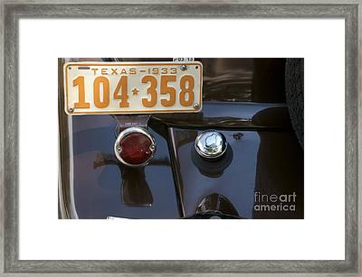 Framed Print featuring the photograph 1933 by Sherry Davis