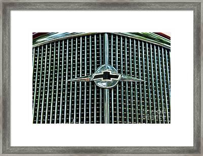 1934 Chevrolet Grill  Framed Print by Paul Ward