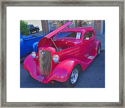 Framed Print featuring the photograph 1934 Chevy Coupe by Tikvah's Hope