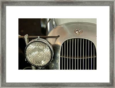 1934 Mg Pa Midget Supercharged Special Speedster Grille Framed Print by Jill Reger
