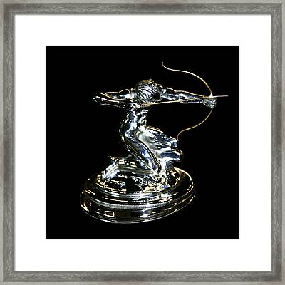 1934 Pierce Arrow Hunter Mascot Framed Print by Jack Pumphrey