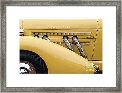 1935 Auburn 851 Sc Speedster Detail - D008160 Framed Print