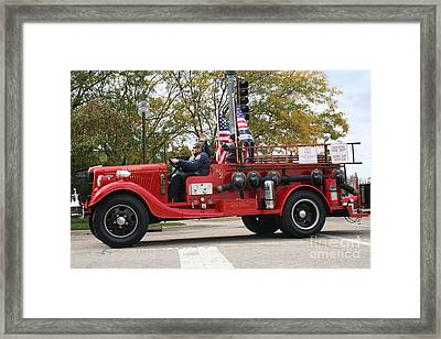 1935 Ford Fire Truck Framed Print by Roger Look