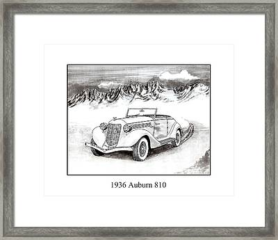 1936 Auburn 810 Framed Print by Jack Pumphrey